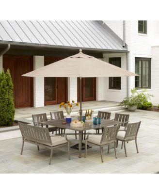 Wayland Outdoor 9' Auto-Tilt Umbrella and Base, with Sunbrella® Fabric, Created for Macy's