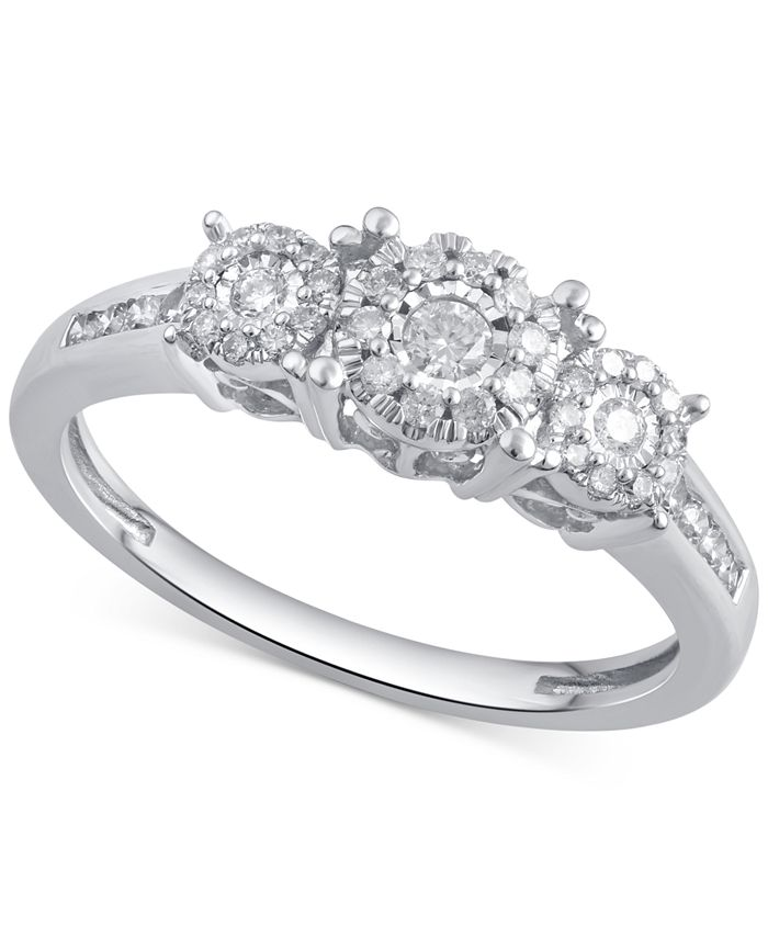 Macy's - Diamond Engagement Ring (1/3 ct. t.w.) in 14k Gold, Rose Gold or White Gold