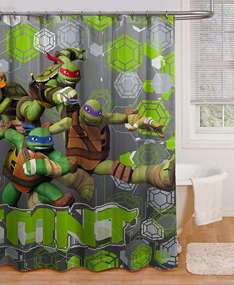 jay franco teenage mutant ninja turtles crash landing shower