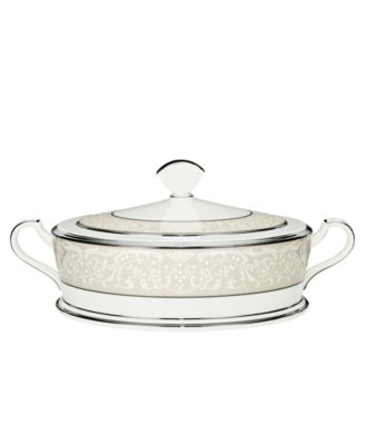 """Noritake """"Silver Palace"""" Covered Vegetable"""
