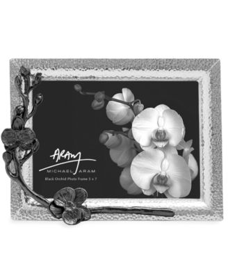 "Michael Aram Black Orchid 5"" x 7"" Picture Frame"