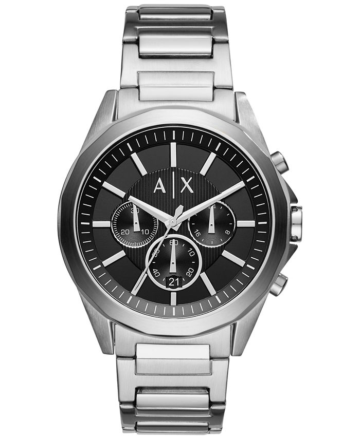 A|X Armani Exchange - Men's Chronograph Stainless Steel Bracelet Watch X2600