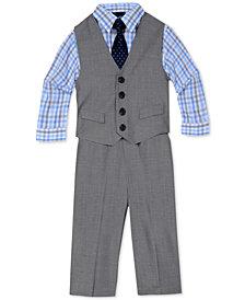 Nautica 4-Pc. Sharkskin Vest Set, Baby Boys