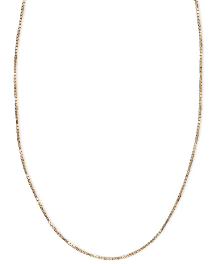 Macy's - 14k Pink Gold Necklace, Box Chain