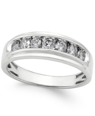 Men's Diamond Band (3/4 ct. t.w.) in 10k White Gold