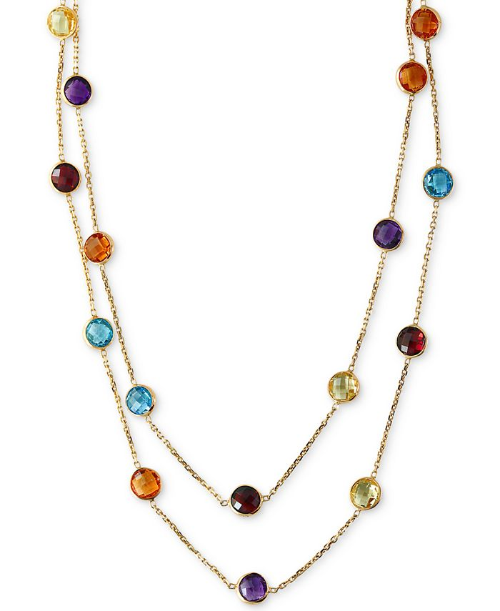 EFFY Collection - Multi-Gemstone Long Strand Necklace (28-9/10 ct. t.w.) in 14k Gold