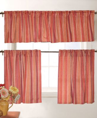 Red Ticking Cafe Curtains - Best Curtains 2017