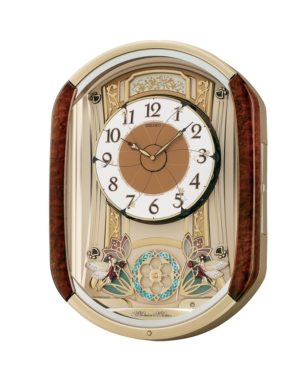 Seiko Wood Melodies in Motion Wall Clock QXM275BRH