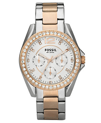 fossil s chronograph two tone stainless steel