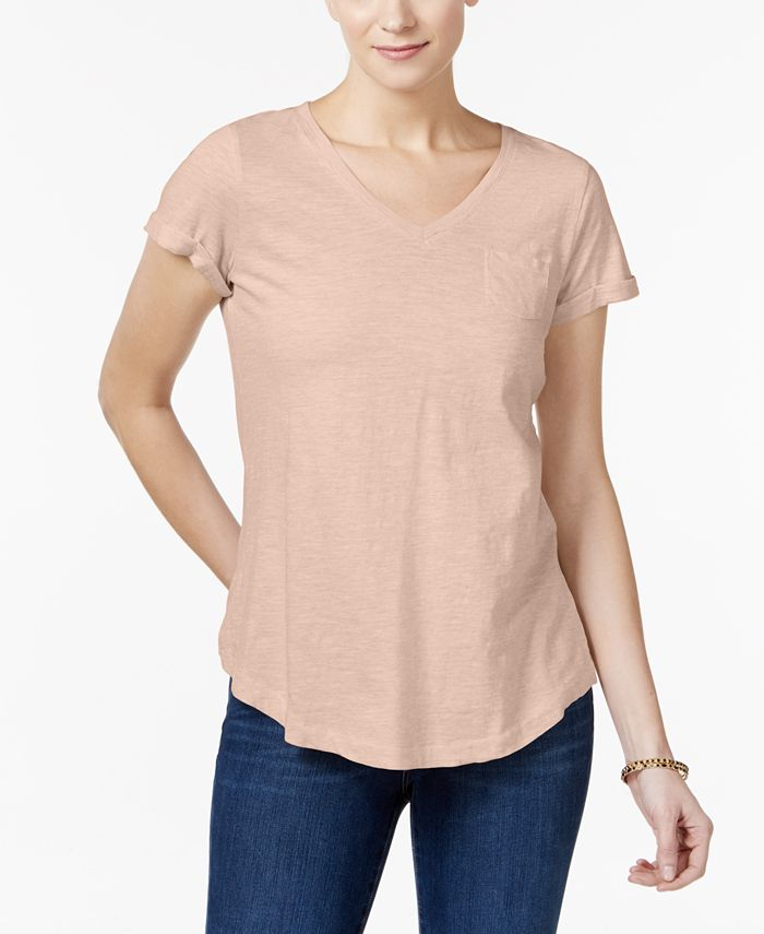Style & Co - Cotton Pocketed T-Shirt