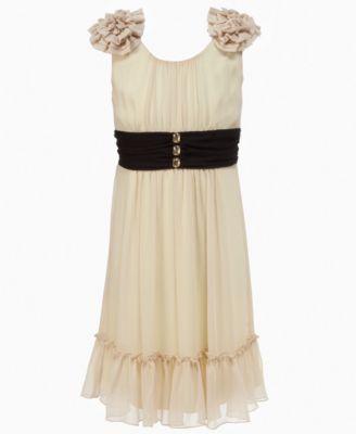 Hype Kids Dress, Girls Shoulder Ruffle Dress