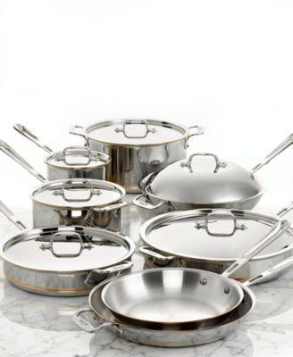 AllClad CopperCore 14 Piece Cookware Set Cookware Kitchen Macys