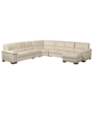 spencer leather sectional sofa 5 piece left arm facing loveseat right arm facing