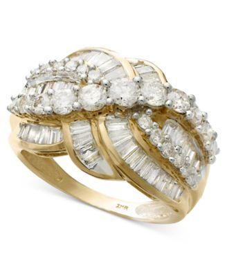 diamond ring in 14k gold 2 ct tw