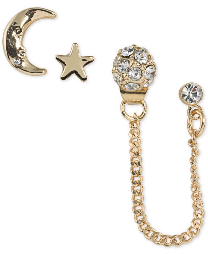 ABS by Allen Schwartz - Gold-Tone 3-Pc. Set Crystal Stud Earrings