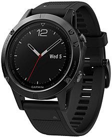 Garmin Men's fenix® 5 Multisport Black Silicone Band Smart Watch 47mm