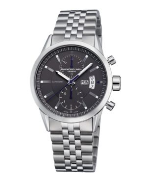 Raymond Weil Watch, Men's Automatic Chronograph Stainless Steel Bracelet 7735-ST-60001