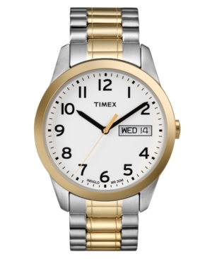 Timex Watch, Men's Two Tone Stainless Steel Bracelet T2N063UM