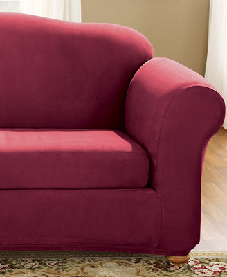 Sure Fit Stretch Faux Suede 2 Piece Sofa Slipcover