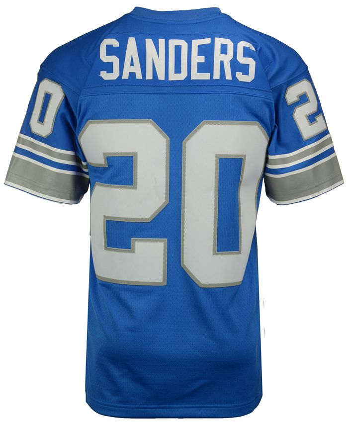 Mitchell & Ness - Men's Barry Sanders Detroit Lions Replica Throwback Jersey