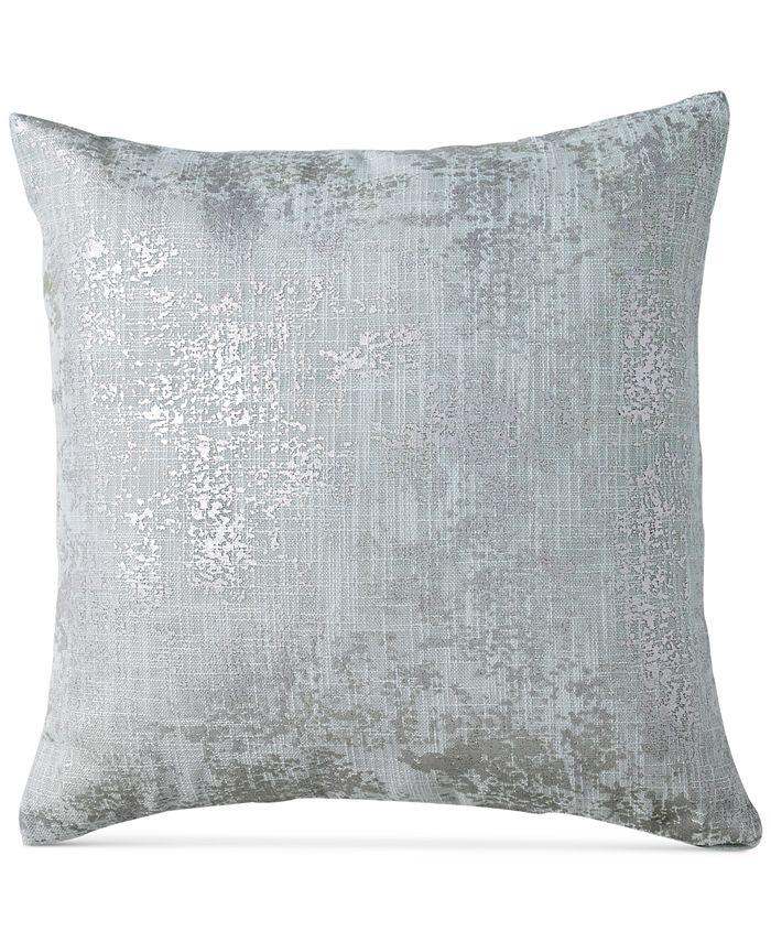 "DKNY - Refresh Metallic-Print 16"" Square Decorative Pillow"