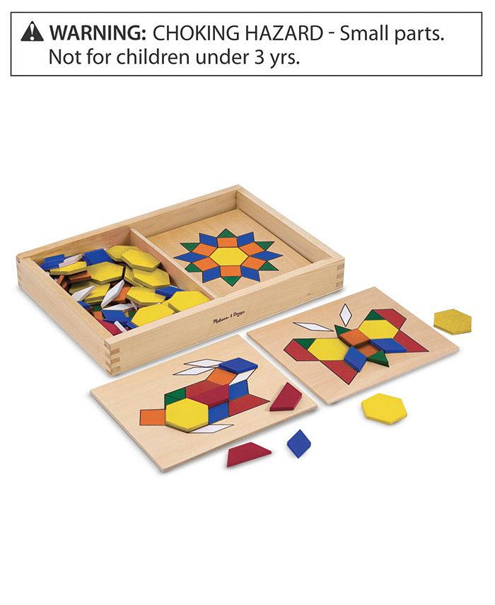 Melissa and Doug - Toy, Pattern Blocks and Boards