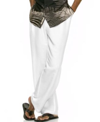 Cubavera Big and Tall Pants, Drawstring Linen-Blend Pants - Pants ...