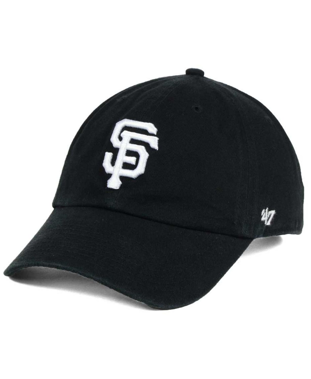'47 Brand San Francisco Giants Black White Clean Up Cap & Reviews - Sports Fan Shop By Lids - Men - Macy's