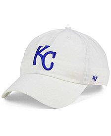 '47 Brand Kansas City Royals White Clean Up Cap