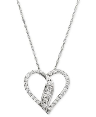 Wrapped in love diamond heart pendant 14k white gold diamond wrapped in love diamond heart pendant 14k white gold diamond heart necklace 1 aloadofball Images