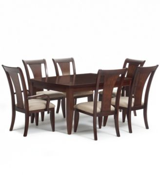 Piece Contemporary Dining Set Rectangular Table And 4 Side Chairs