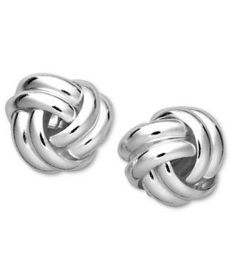 Giani Bernini Sterling Silver Earrings Double Knot Stud