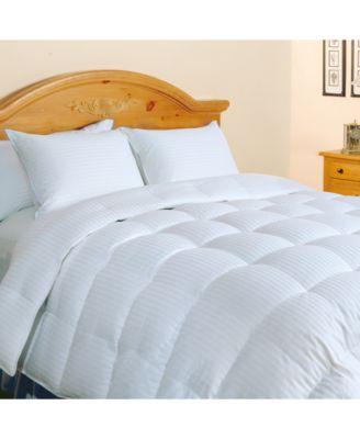 500-Thread Count Damask Stripe Queen Down Comforter