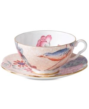 Wedgwood Dinnerware, Peach Cuckoo Teacup and Saucer