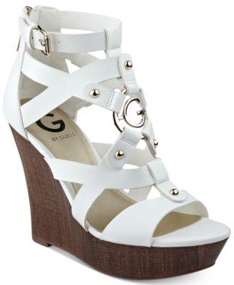 G by GUESS Dodge Platform Wedge Sandals