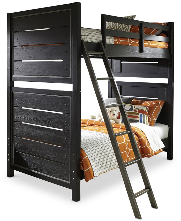 Furniture - Graphite Kids Twin over Twin Bunk Bed