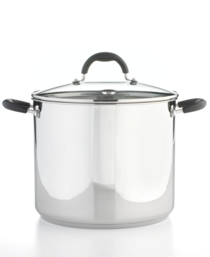 Martha Stewart Collection Stock Pot, 12 Qt. Stainless Steel