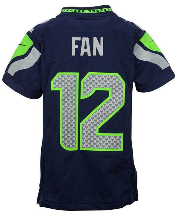 Nike Fan #12 Seattle Seahawks Limited Jersey, Big Boys (8-20)