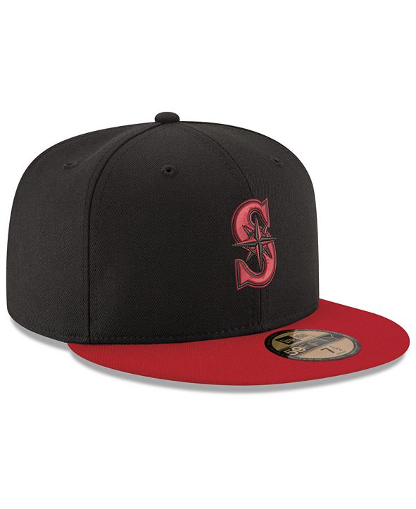 New Era Seattle Mariners Black & Red 59FIFTY Fitted Cap