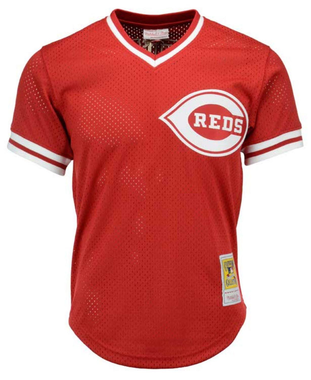 Mitchell & Ness Men's Barry Larkin Cincinnati Reds Authentic Mesh Batting Practice V-Neck Jersey  & Reviews - Sports Fan Shop By Lids - Men - Macy's