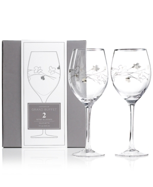Charter Club Glassware, Set of 2 Novelty Silhouette Wine Glasses