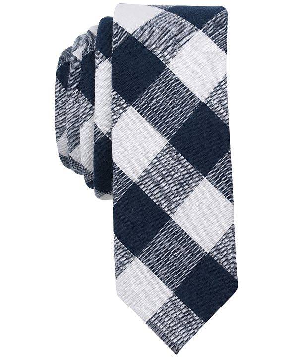 Original Penguin Men's Eldon Check Skinny Tie