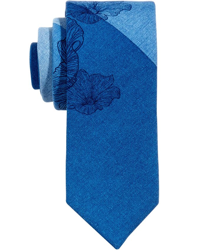 Bar III - Men's Kennebunk Floral Skinny Tie, Only at Macy's