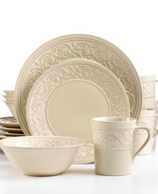Signature Living Signal Hill Cream 16-Piece Set