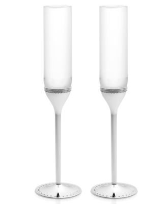 Vera Wang Wedgwood Set of 2 Grosgrain Toasting Flutes