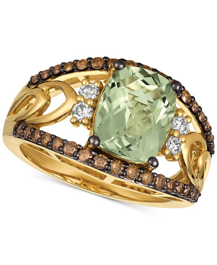 Le Vian - Mint Julep Quartz (2-5/8 ct. t.w.) & Diamond (5/8 ct. t.w.) Ring in 14k Gold