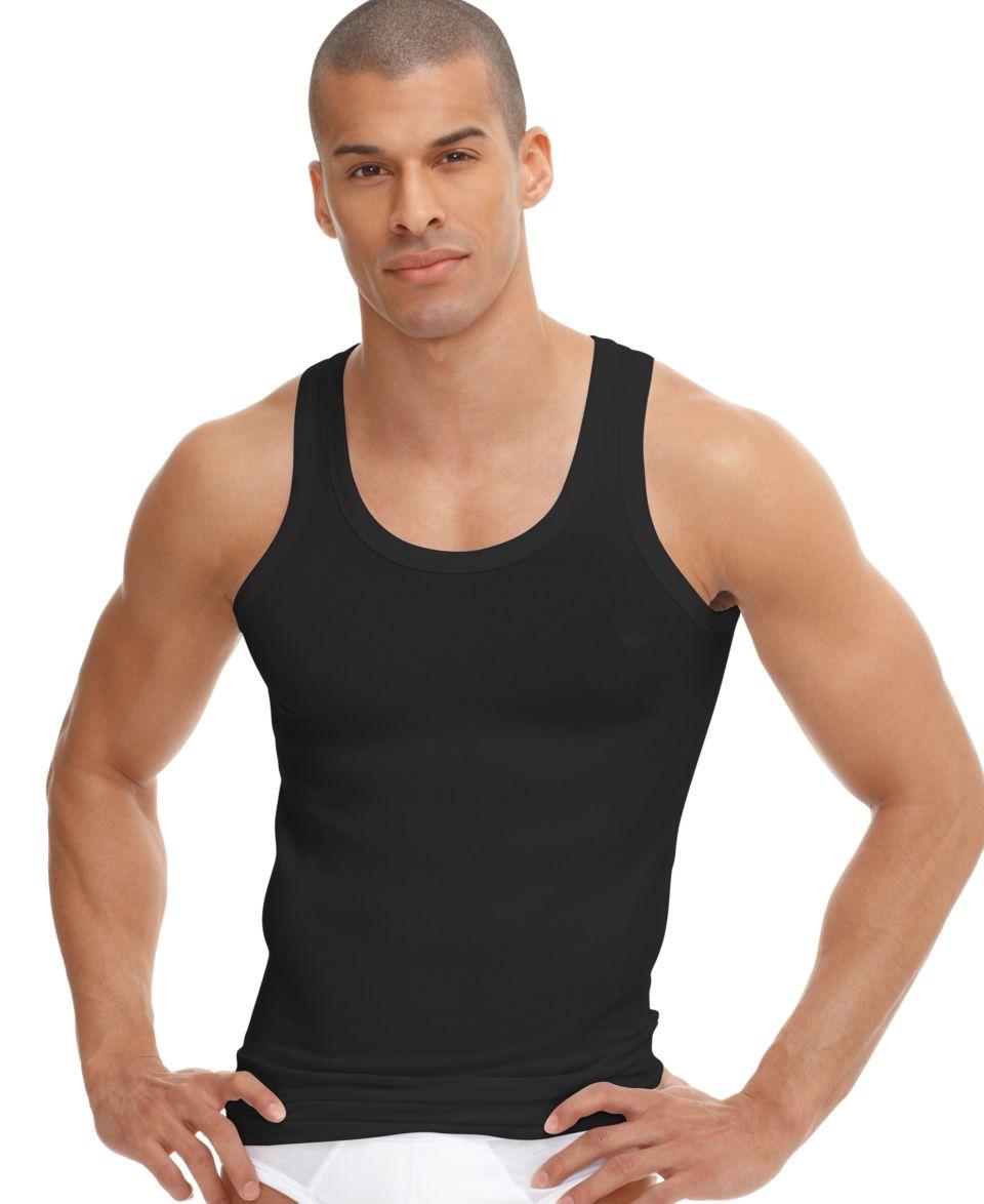 Emporio Armani Mens Underwear, Cotton Stretch Logo Tank   Underwear   Men