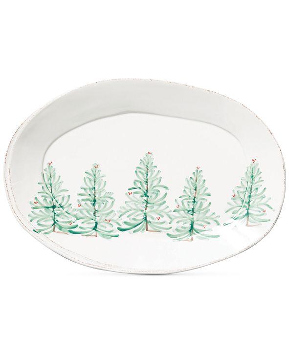 VIETRI Lastra Holiday Large Oval Platter