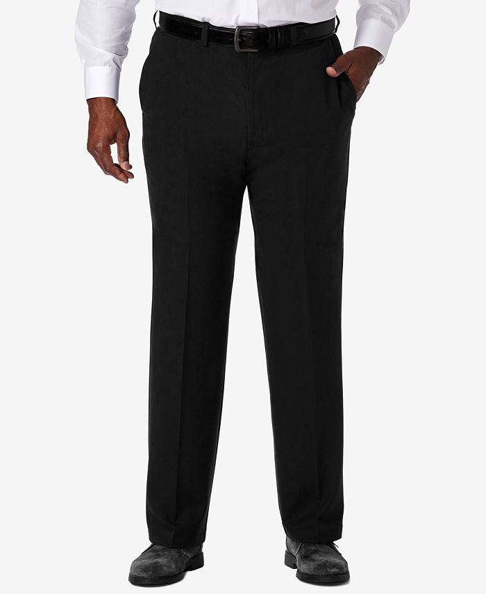 Haggar - Men's Big & Tall Classic-Fit Cool 18® PRO Expandable-Waist Dress Pants