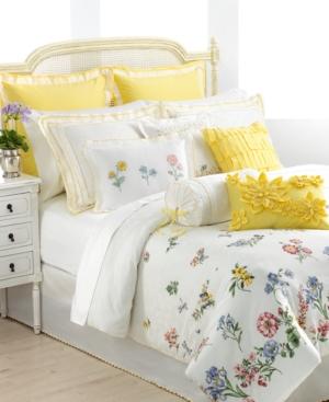 "Lenox Bedding, Flowering Meadow 16"" Ribbon Decorative Pillow Bedding"
